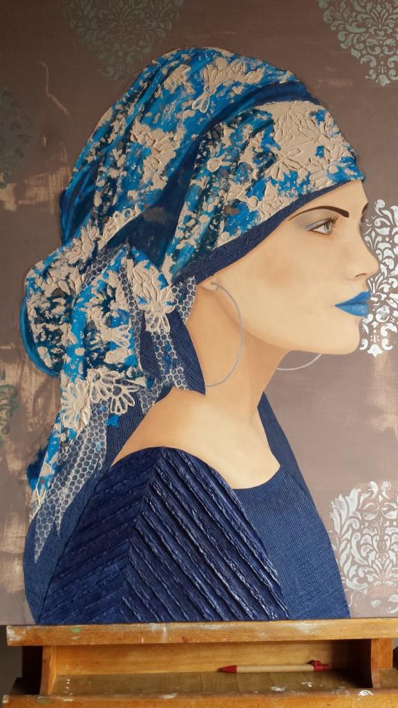 La donna in blu - Nilla Spinato