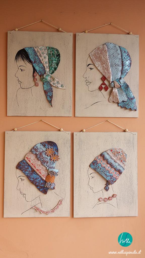 4 foulard in terracotta